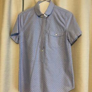 J.Crew Short Sleeve Polka Dot Shirt -S